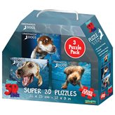 Slagalica NATIONAL GEOGRAPHIC, Super 3D Kids Puzzle, Psi, 3u1, 100 komada