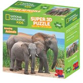 Slagalica NATIONAL GEOGRAPHIC, Super 3D Kids Puzzle, Slonovi, 100 komada