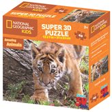 Slagalica NATIONAL GEOGRAPHIC, Super 3D Kids Puzzle, Tigar, 48 komada