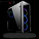 Kućište CHIEFTEC Scorpion II GL-02B-OP RGB, MIDI Tower, ATX, crno, bez napajanja
