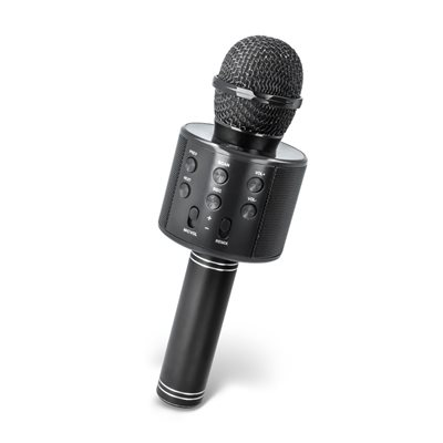 Party mikrofon FOREVER, BMS-300 all-in-one karaoke - mikrofon, bluetooth zvučnik, crni