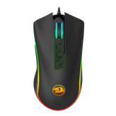 Miš REDRAGON Cobra Chroma M711, optički, 5000dpi, RGB, sivi, USB