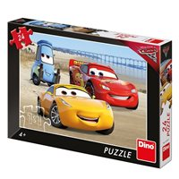 Slagalica DINO, Disney, Cars 3, auti na plaži, 24 komada