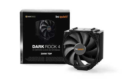 Cooler BEQUIET Dark Rock 4, s. 1150/1151/1155/1156/1366/2011-3/2066/AM2+/AM3+/AM4/FM1/FM2+, crni