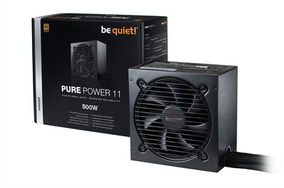 Napajanje 500W, BEQUIET Pure Power 11, 120mm vent., 80+ Gold, PFC