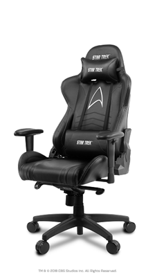 Gaming stolica AROZZI Star Trek Edition, crna