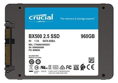 "SSD 960.0 GB CRUCIAL BX500, CT960BX500SSD1, SATA3, 2.5"", maks do 540/500 MB/s"