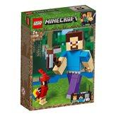 LEGO 21148, Minecraft, Minecraft Steve BigFig with Parrot, Steve s papigom