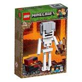 LEGO 21150, Minecraft, Minecraft Skeleton BigFig with Magma Cube, kostur s kockom magme