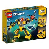 LEGO 31090, Creator, Underwater Robot, podvodni robot, 3u1
