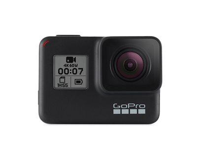 Sportska digitalna kamera GOPRO HERO7 Black, 4K60, 12 Mpixela + HDR, Touchscreen, Voice Control, 3 Axis, GPS + Dodatak za sportske digitalne kamere GOPRO Sleeve + Lanyard, ACSST-002, navlaka i vezica,