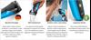 Aparat za brijanje BRAUN 310, Triple Action, 2× SensoFoil, crno-plavi