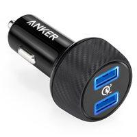 Auto punjač ANKER PowerDrive Speed 2, A2228011, 2 USB 3.0 priključka, crni