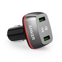 Auto punjač ANKER PowerDrive+ 2, A2224H12, 2 USB 3.0 priključka, crni