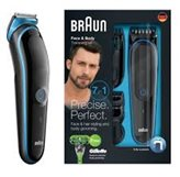 Trimer BRAUN MGK 3040, brada/tijelo, 7u1, 4 češljića +  Gillette Body