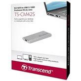 Eksterno kućište TRANSCEND TSCM42S, M.2 2242, USB 3.1 Type-C, srebrna