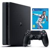 Igraća konzola SONY PlayStation 4, 500GB, F Chassis, crna + FIFA 19