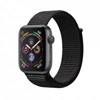 Pametni sat APPLE Watch Series 4 GPS, 40mm, sivi, crna sportska narukvica