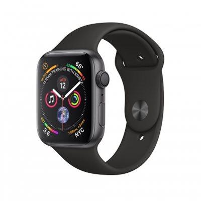 Pametni sat APPLE Watch Series 4 GPS, 40mm, sivi, crni sportski remen