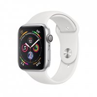 Pametni sat APPLE Watch Series 4 GPS, 40mm, srebrni, crni sportski remen