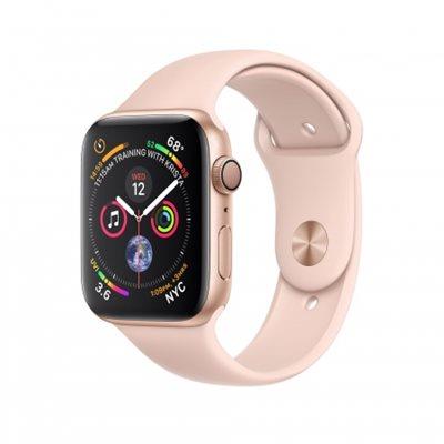 Pametni sat APPLE Watch Series 4 GPS, 44mm, zlatni, rozi sportski remen