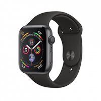 Pametni sat APPLE Watch Series 4 GPS, 44mm,sivi, crni sportski remen