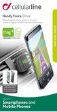 Držač za smartphone CELLULARLINE Handy Force Drive, bežično punjenje, za auto, magnetni, crni