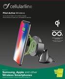 Držač za smartphone CELLULARLINE Pilot Active, bežično punjenje, za auto, crni