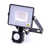 LED Reflektor V-TAC 438, 10W, 6400K, 800lm, PIR senzor, AC220V, Samsung chip