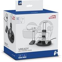 Stanica za punjenje SPEEDLINK VREADY 4-in1, za PlayStation 4 gamepada, crna