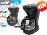 Aparat za kavu ELIT CM-18,  800W,  1.5L, 12 šalica, ploča za održavanje topline, crna
