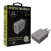 Kućni punjač MAXMOBILE Duo TR-254, USB, 5A, bijeli