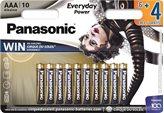Baterije PANASONIC LR03EPS/10BW, Alkalne, AAA, 6+4 kom