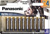 Baterije PANASONIC LR6EPS/10BW, Alkalne, AA, 6+4 kom