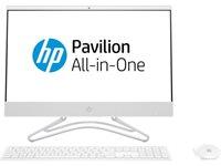 "Računalo AiO HP 22-c0012ny 5TA78EA / Quad Core i5 8250U, 8GB, 1000GB, HD Graphics, 21.5"" FHD, tipkovnica, miš, DOS, bijelo"