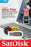 Memorija USB 3.0 FLASH DRIVE, 256 GB, SANDISK Ultra Flair, SDCZ73-256G-G46