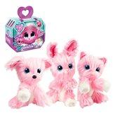 Plišana igračka iznenađenja SCRUFF A Luv, zeko, maca ili pesek, rozi