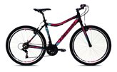 Ženski bicikl CAPRIOLO MTB Attack, vel.19˝, kotači 26˝, crno/roza