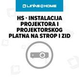 HS - Instalacija projektor i projektorskog platna na strop i zid, 1 radni sat