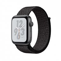 Pametni sat APPLE Nike + Series 4 GPS, 40mm, sivi, crna sportska Nike narukvica