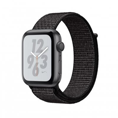 Pametni sat APPLE Nike + Series 4 GPS, 44mm, sivi, crna sportska Nike narukvica