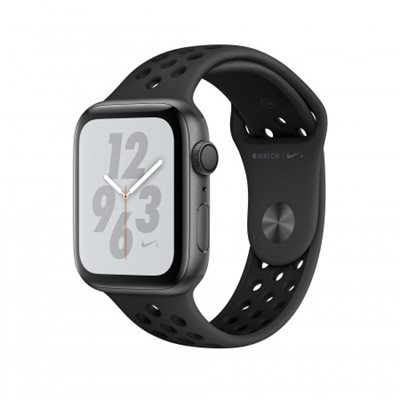 Pametni sat APPLE Nike + Series 4 GPS, 44mm, sivi, crni sportski Nike remen