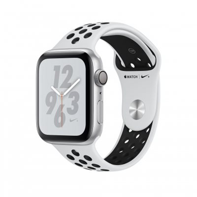 Pametni sat APPLE Nike + Series 4 GPS, 44mm, srebrni, crni sportski Nike remen