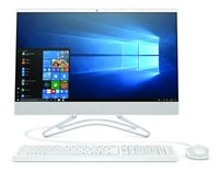 "Računalo AiO HP 24-f0006ny 5ER86EA / Dual Core i3 8130U, 8GB, 256GB SSD, HD Graphics, 23.8"" FHD, tipkovnica, miš, Windows 10, bijelo"