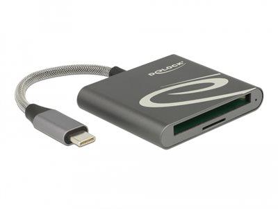 Čitač kartica DELOCK za Compact Flash ili MicroSD memorijske kartice, USB 3.1 Type-C