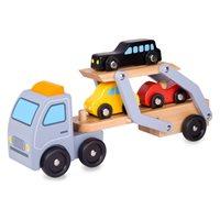 Drvena igačka CLASSIC WORLD, transporter auta 3591