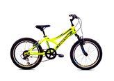 Dječji bicikl MTB DIAVOLO 200, 6 brzina, kotači 20˝, žuto/crni