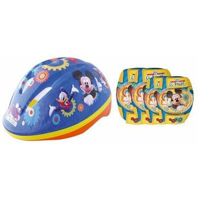 Dječja zaštitna kaciga STAMP, Mickey, veličina S, 52-56cm + štitnici za laktove i koljena