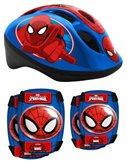 Dječja zaštitna kaciga STAMP, Spiderman, veličina S, 52-56cm + štitnici za laktove i koljena
