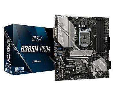Matična ploča ASROCK B365M Pro4, Intel B365, DDR4, ATX, s. 1151 – za 8/9Gen procesora